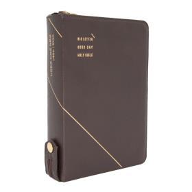 개역개정 큰글자 굿데이성경전서 NKR72WXU (중합본/색인) - 다크브라운 (천연가죽)