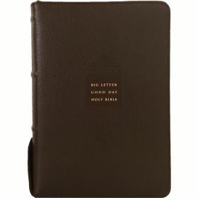 개역개정 큰글자 굿데이성경전서 NKR72EWB (대/합색) - 다크브라운 (천연우피)