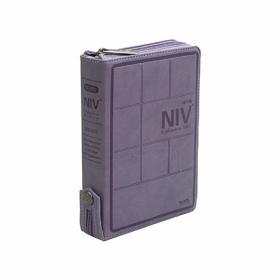 NIV 영어해설성경-보라/가죽(특소,단본,색인,지퍼)