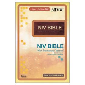 NIV BIBLE -다크브라운(대,단본,색인,무지퍼)