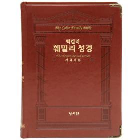 [개역개정] 빅컬러 훼밀리 성경 (단색) - D브라운
