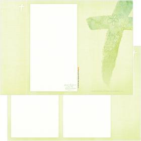 A4(4면) 십자가 주보 A4105S (날개형/양면칼라) - 연두색