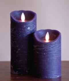 [LED] FLAMELESS CANDLE 5인치 PLUM DISTRESSED (진자주색)