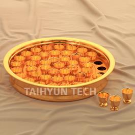 알루미늄 성찬기 금잔(ALG-45호)밑판1개