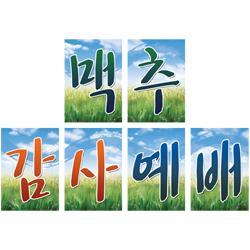 진흥3000-글씨본(맥추감사예배/6075)