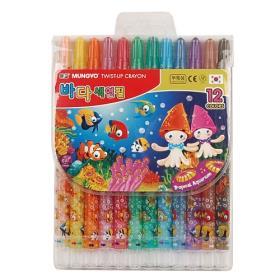 [착불택배] 12색 샤프식 색연필(문교)