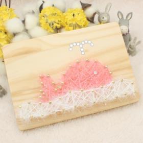 스트링액자(대) 만들기- 핑크고래