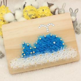 스트링액자(대) 만들기- 블루고래