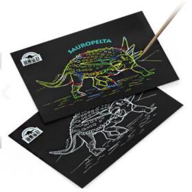 공룡 스크래치보드 (사우로펠타)