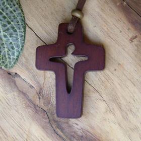 Cross & Jesus 목걸이(투각)-B