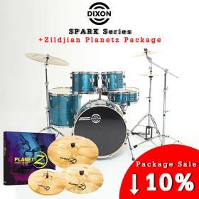 [기획패키지] Dixon Spark 5pcs Drum + Zildjian Planetz 풀세트 /딕슨/스파크/드럼세트