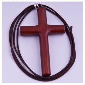 목걸이-향나무원목십자가