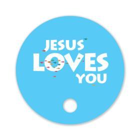 전도,행사부채_JESUS LOVES YOU(바다)(1,000개 인쇄)