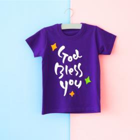 글로리월드 티셔츠 - 갓블레스유(퍼플)