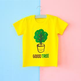 글로리월드 티셔츠 - 굿트리(옐로우)