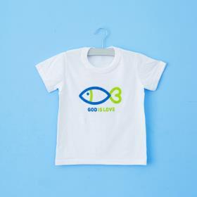 하트물고기 화이트 티셔츠