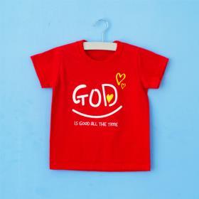 GOD 레드 티셔츠