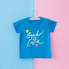 갓이즈러브 캘리 블루 티셔츠