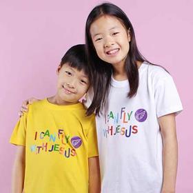 교회단체티 반티 - I can Fly (흰색/노랑) 교회티셔츠