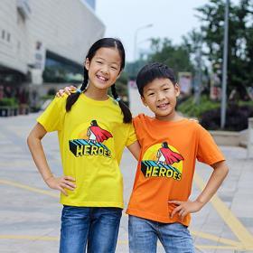 교회단체티 반티 - HEROES 아동용 (흰색/유색) 교회티셔츠