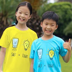 교회단체티 반티 - SALT & LIGHT 아동용 (흰색/유색) 교회티셔츠