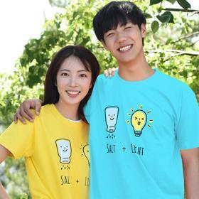 교회단체티 반티 - SALT & LIGHT 성인용 (흰색/유색) 교회티셔츠