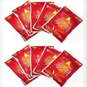 핫팩(포켓용:10매 1set)/친환경황토핫팩,100g