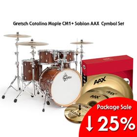 [기획패키지] Gretsch Catalina Maple 5pcs (CMT-E825) + Sabian AAX Performanc