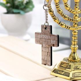 이스라엘 페인팅 십자가 키홀더_통곡의벽