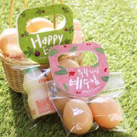 부활절 달걀2구 원형손잡이 40개(비닐포함)_RG세트