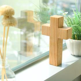 원목 사각 십자가 (소/탁상용)