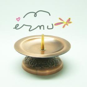 촛불예배용촛대(민무늬꽃무늬받침) - 구리색(1EA)
