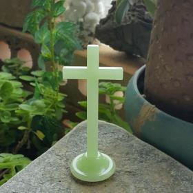 복음-야광탁상십자가(소)/양면스티커부착
