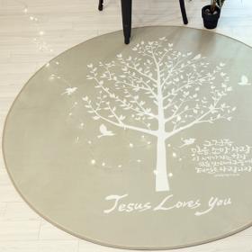 러그]믿음소망사랑_원형(대150)