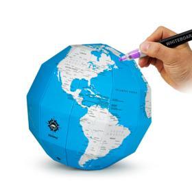 [ZEMIRO DIY 지구본 시리즈] 플래닝 지구본(블루) / 썼다 지웠다 나만의 여행계획! 3D 플랜맵