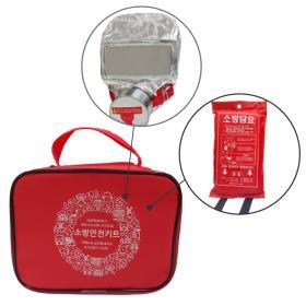 [무료배송/소방안전]소방안전키트B형, 방연마스크/소방담요