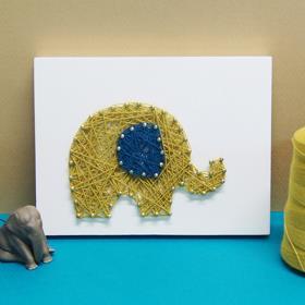 코끼리 스트링아트(스펀지)