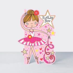 리틀달링 - 발레리나 생일 카드 [DAR3]